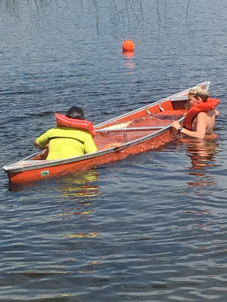 watching canoeing MB third period. The goal was to swamp a canoe and paddle back to shore.