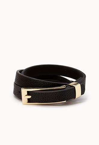 Forever 21 Skinny Black Belt