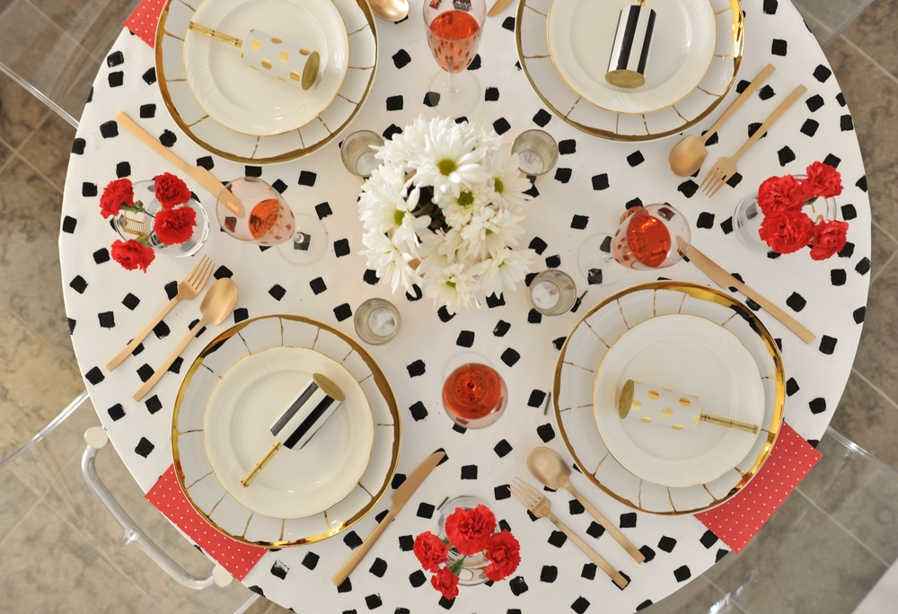 GTL Holiday Tablescape Follow Up   PARK - Kate spade table linens