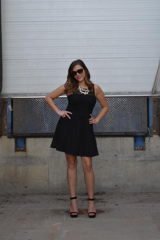 edmonton fashion black dress