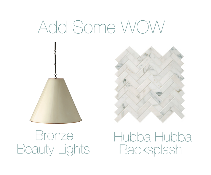 LIGHT-  THOMAS O'BRIAN GOODMAN HANGING LAMP  // TILE-  HERRINGBONE MOSAIC