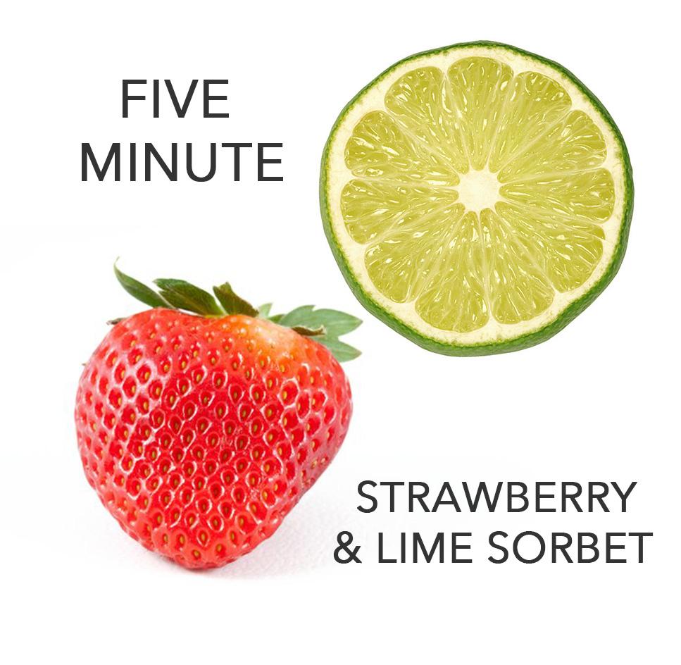 5 Minute Strawberry Lime Sorbet — 204 Park