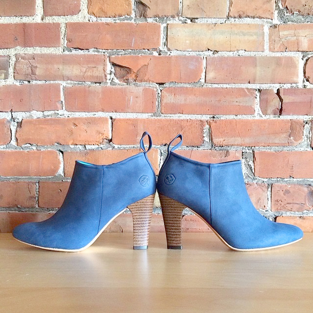 Poppy Barley Denim Leather Booties - 204 Park