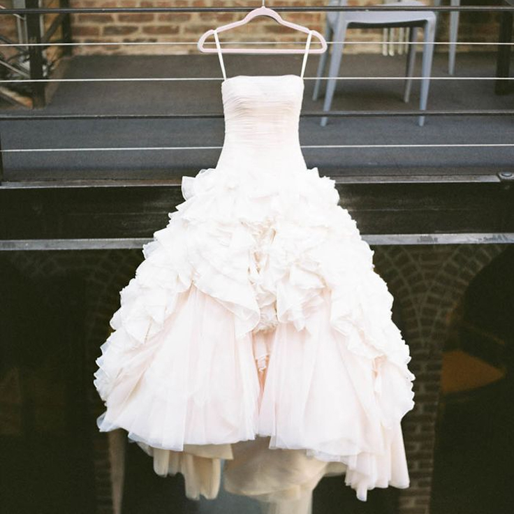 Blush Wedding Dress - www.204park.com