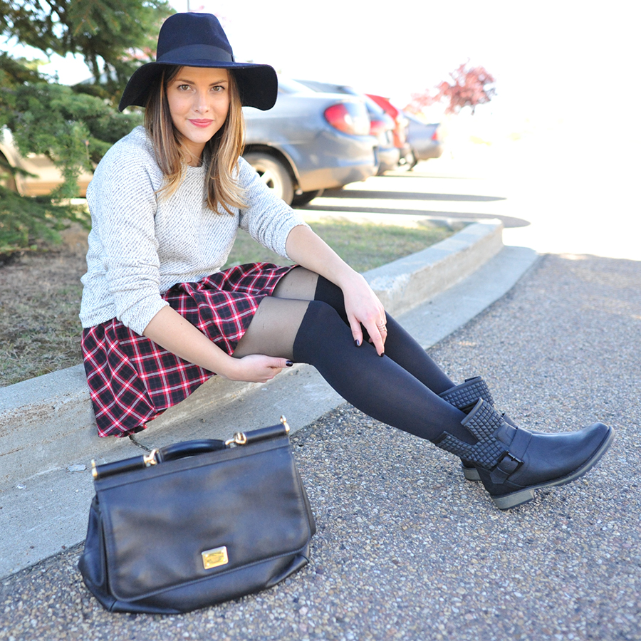 plaid skirt style