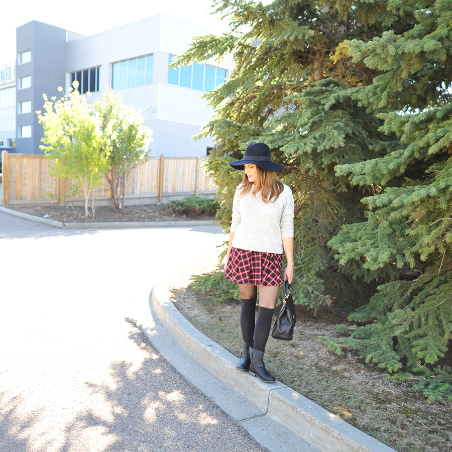 plaid skirt edmonton style