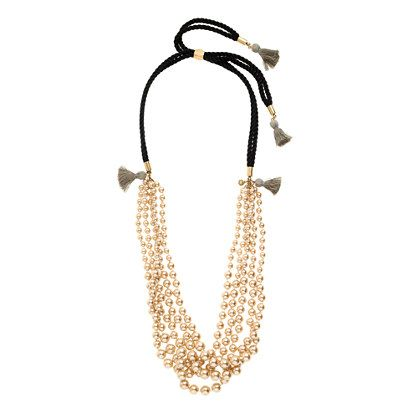 Park Picks - J Crew Gold Tassel Necklace - www.204park.com