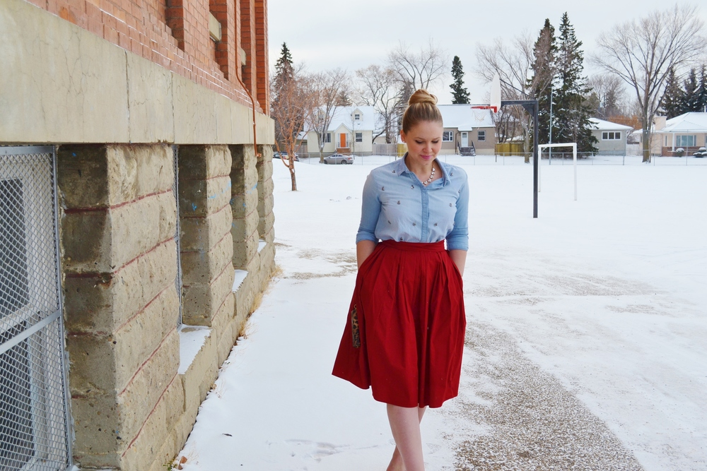 red skirt with pockets.JPG
