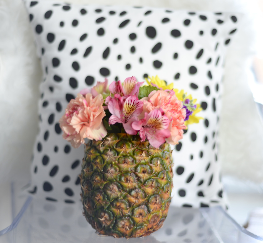 pineapple vase diy
