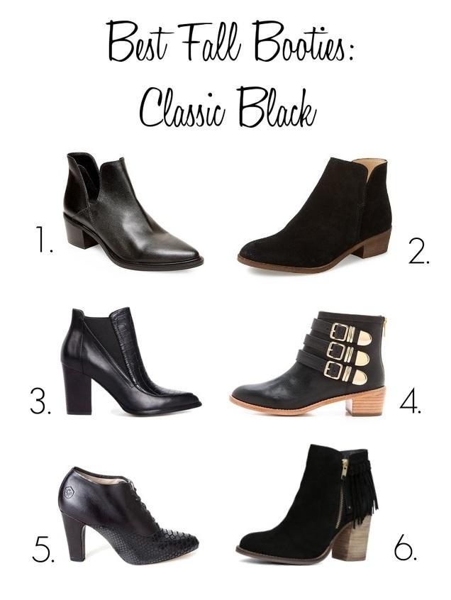 fall booties, best black booties