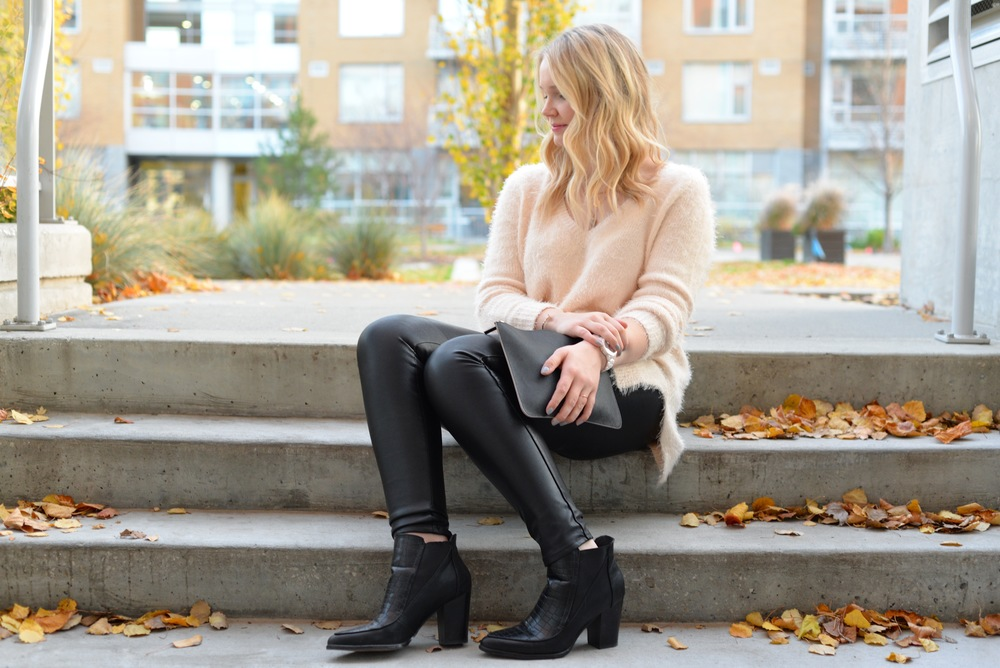 h&m leather leggings