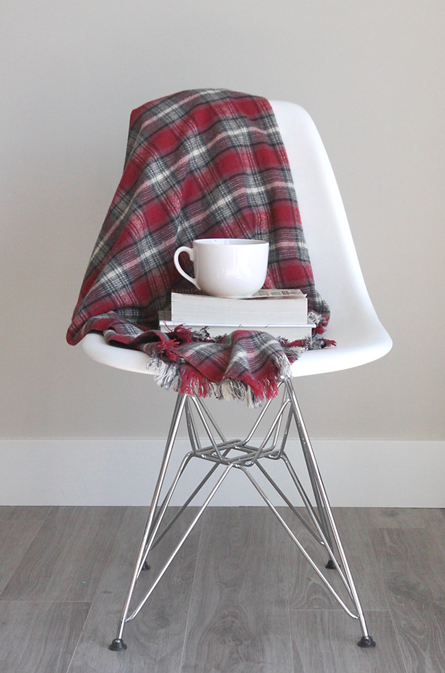 flannel throw DIY