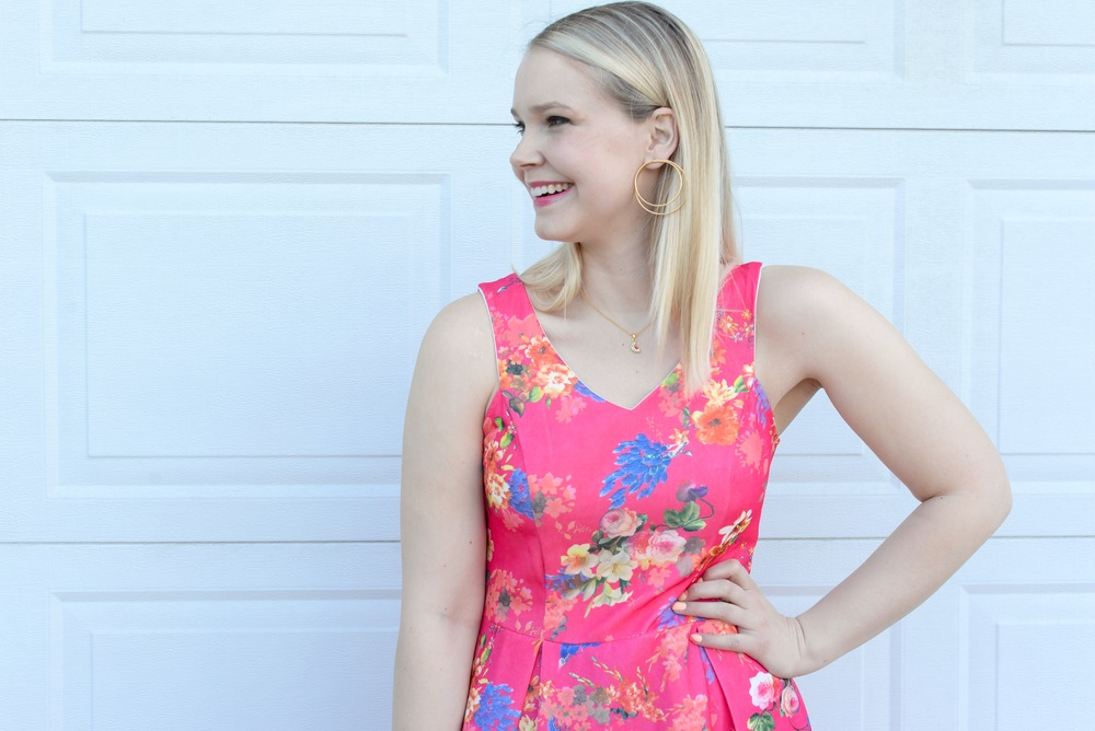 Bright Pink Floral Dress