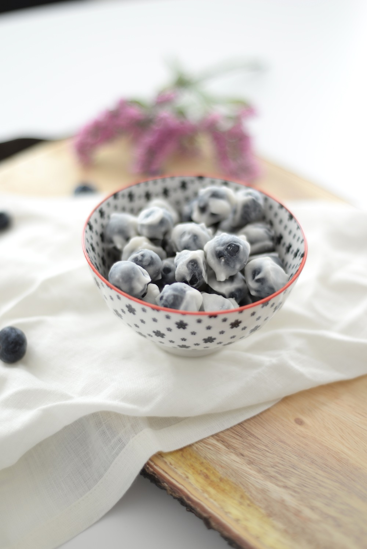 frozen yoghurt covered blueberries