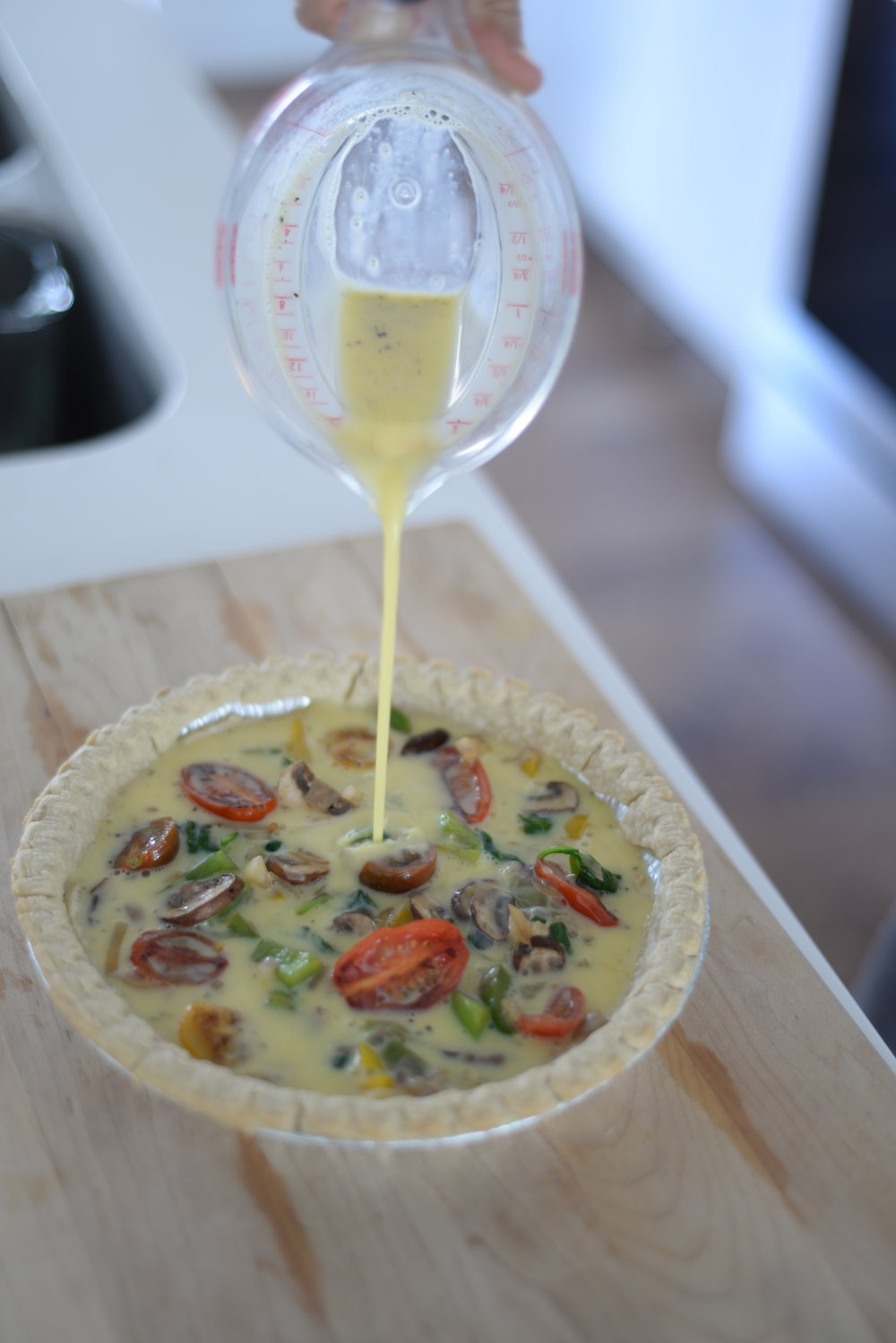 healthy vegetarian quiche