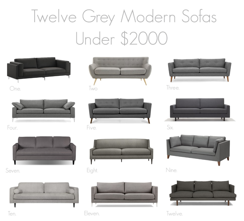 best grey sofas under $2000