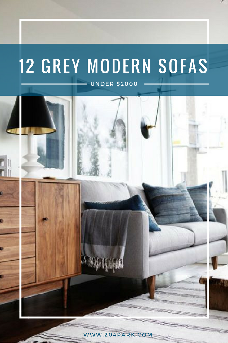 modern grey sofa