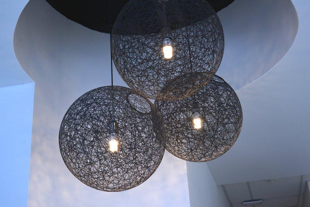 modern round chandelier