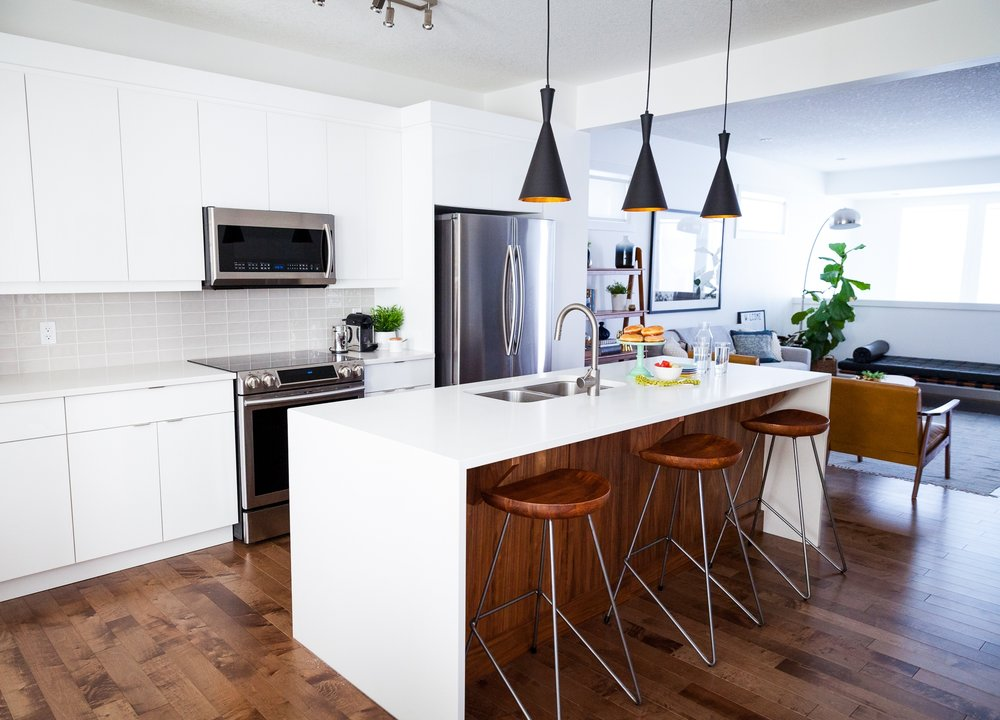 home and kitchen design white and walnut modern kitchen 204 park 4236