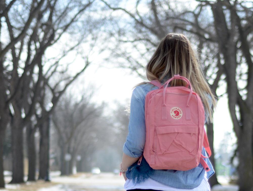 fjallraven pink backpack