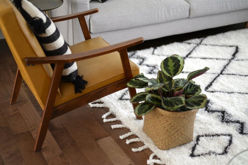 moroccan area rug DIY