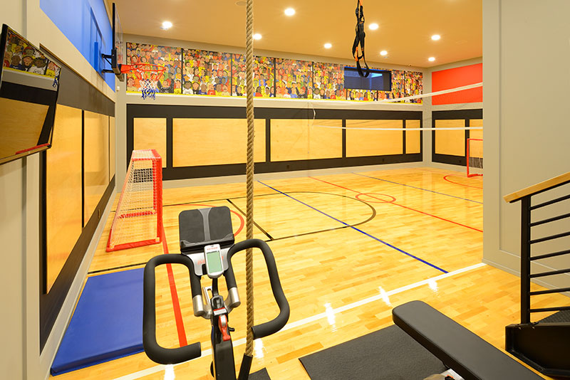 basement gym design