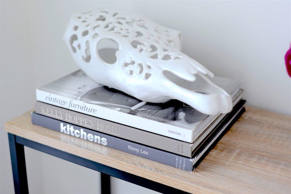 faux animal skull