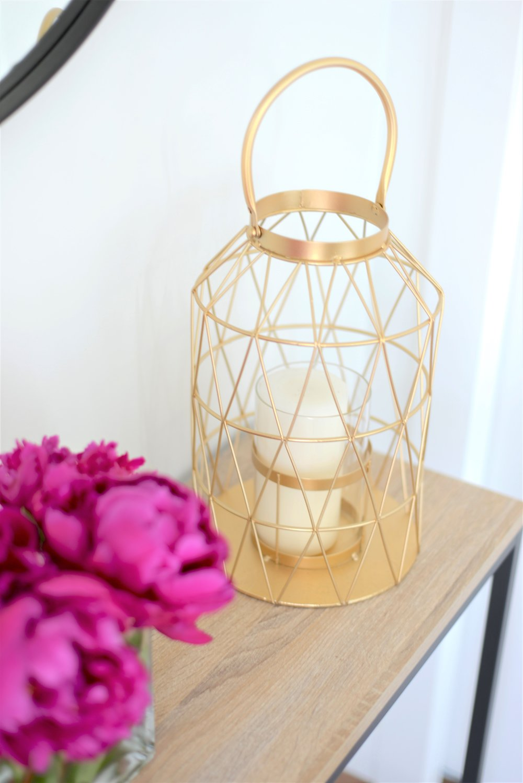 gold modern lantern