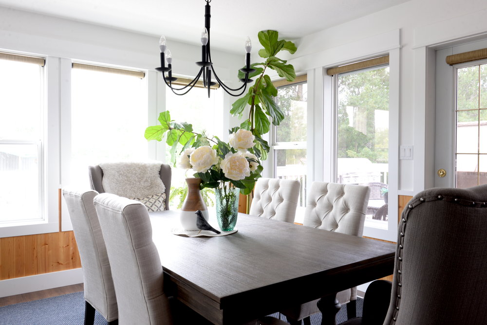 contemporary country dining room