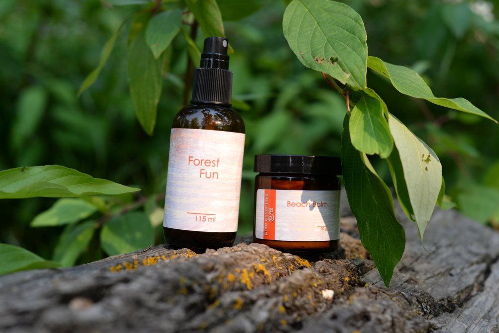 natural sunscreen and bug spray