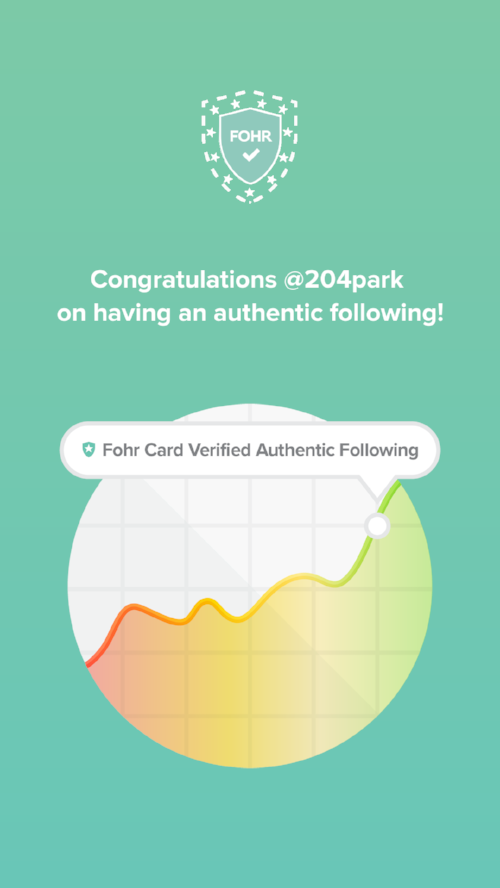 fohr card verified following