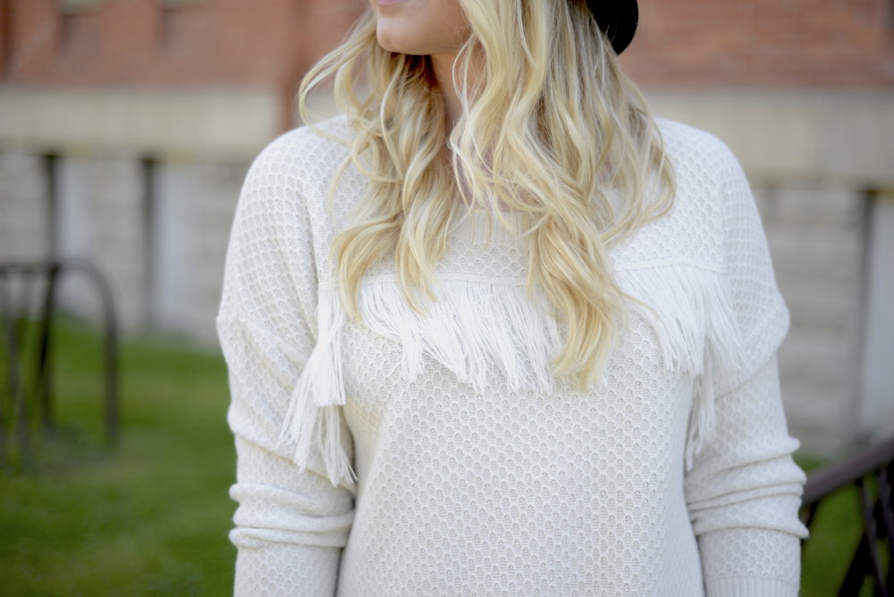fringe sweater fall fashion