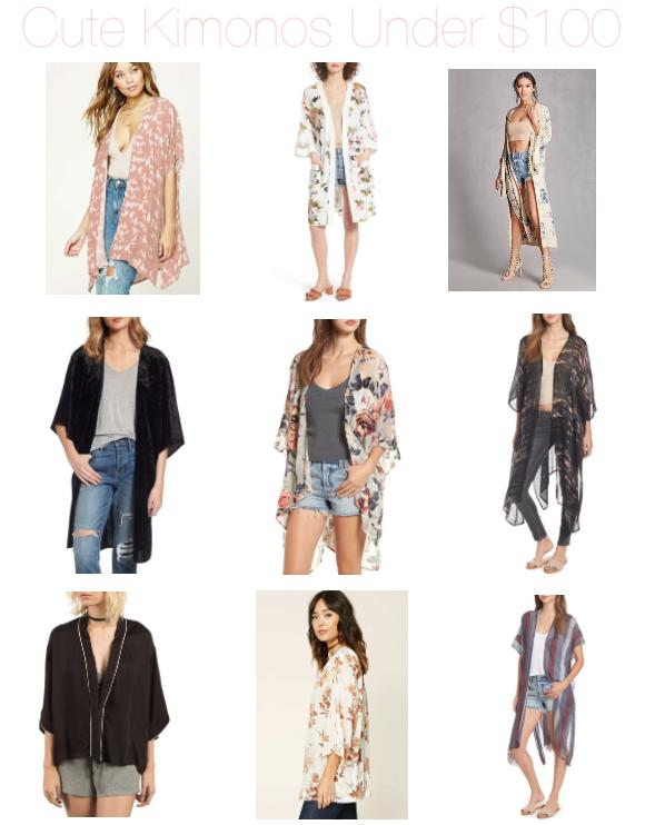 kimonos under $100