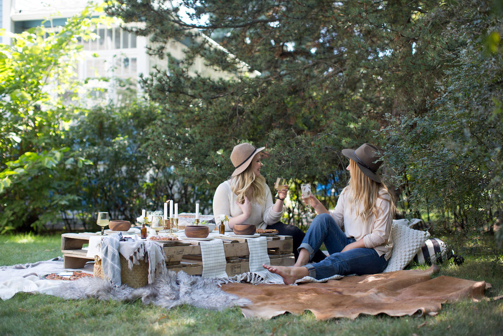 fall boho picnic