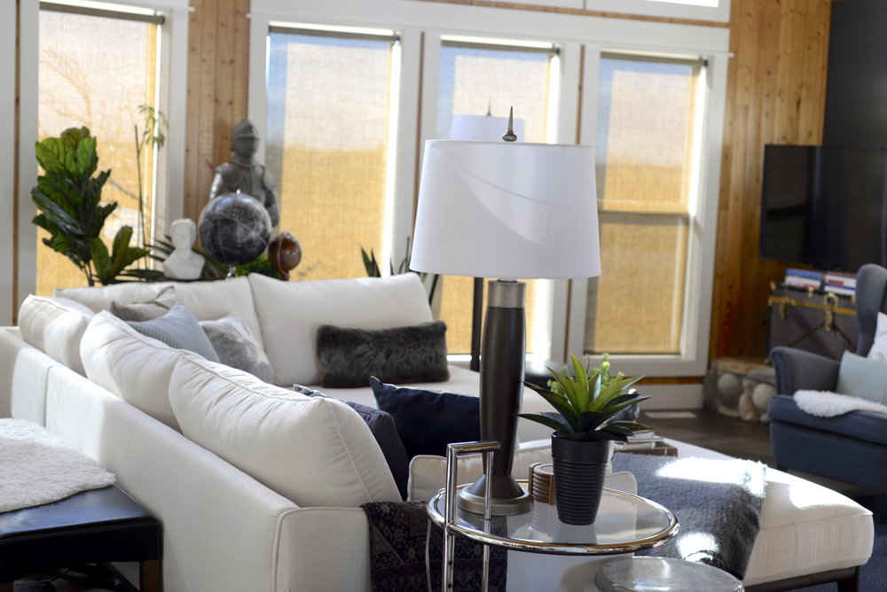 how to style a modern sectional