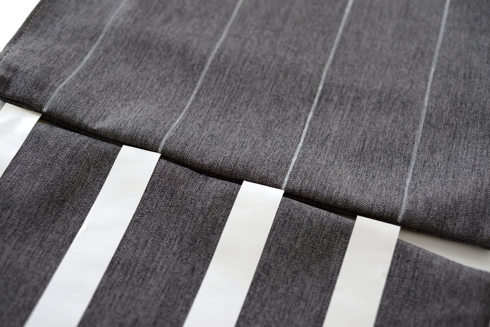 grey striped cushion DIY