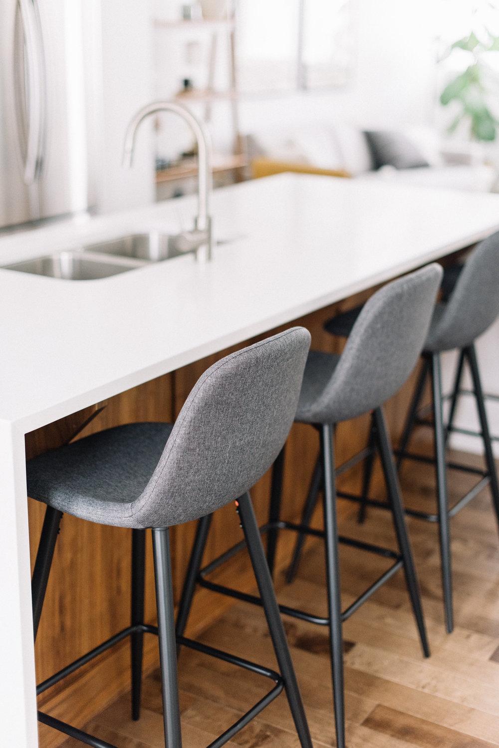 grey modern barstools