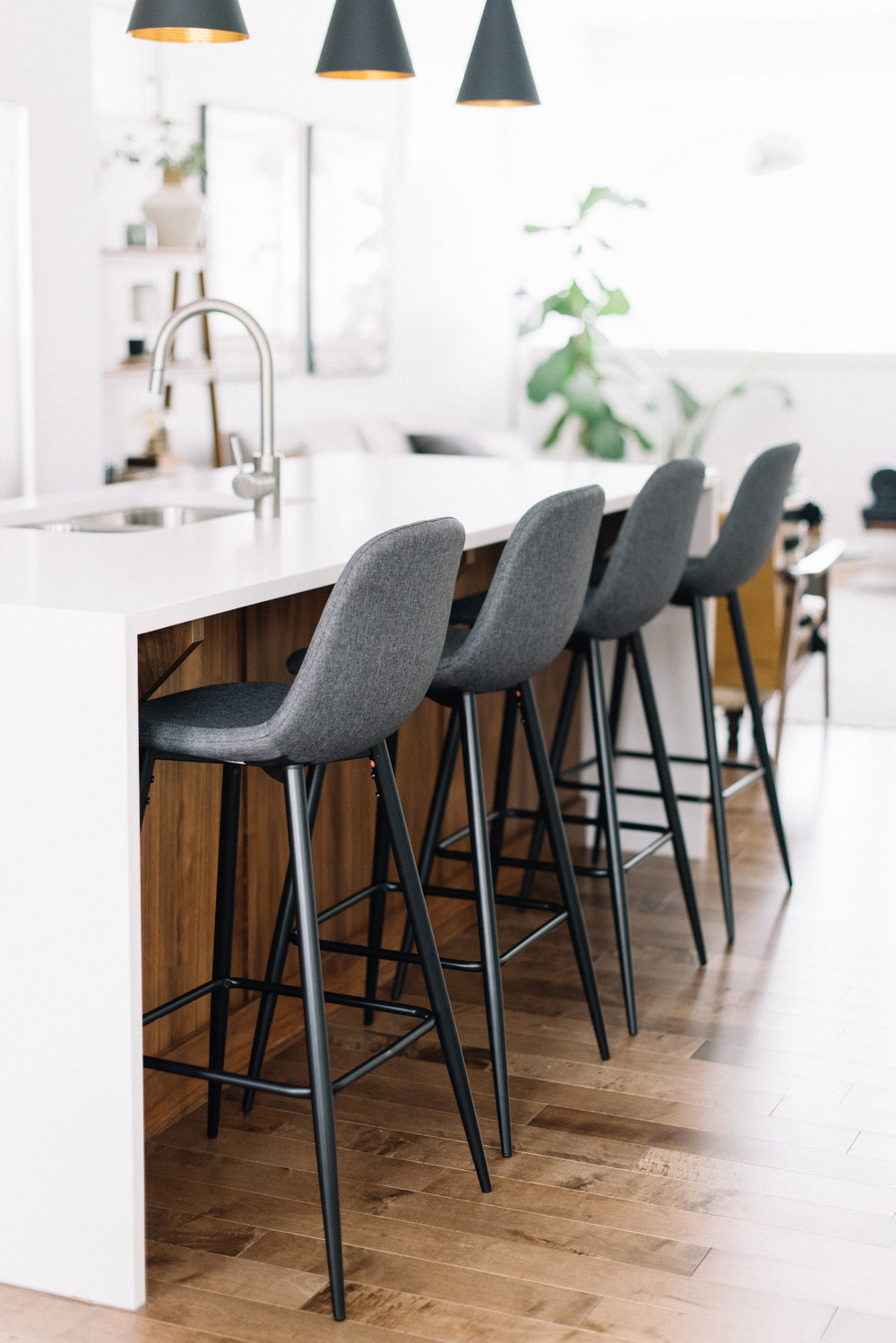 modern barstools with a back