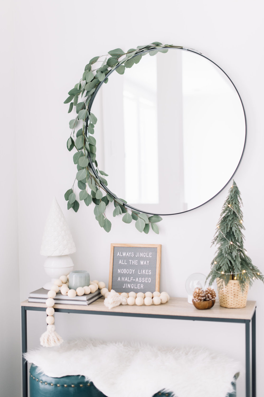 eucalyptus around mirror