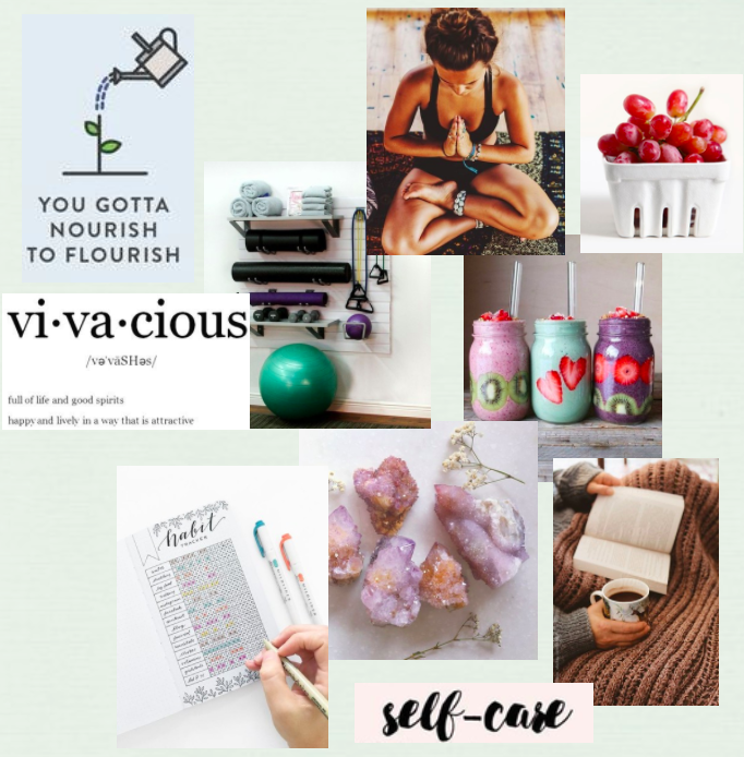 healthy living vision board