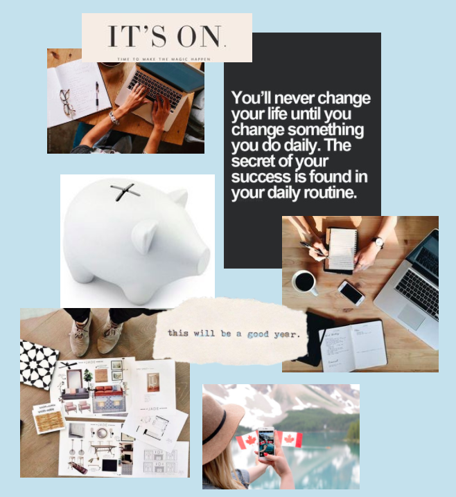 how to create an online vision board