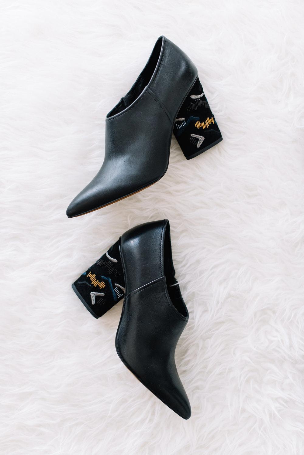 stylish black booties