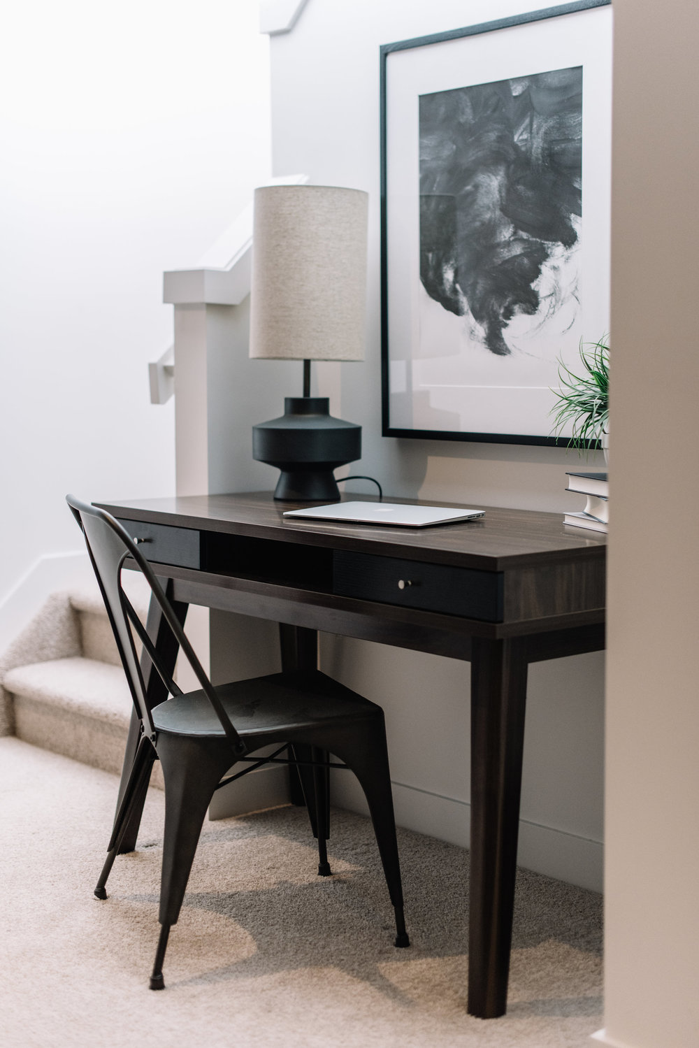 masculine modern office nook
