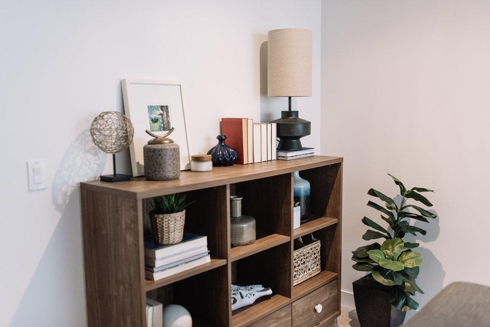 mid century modern shelving unit