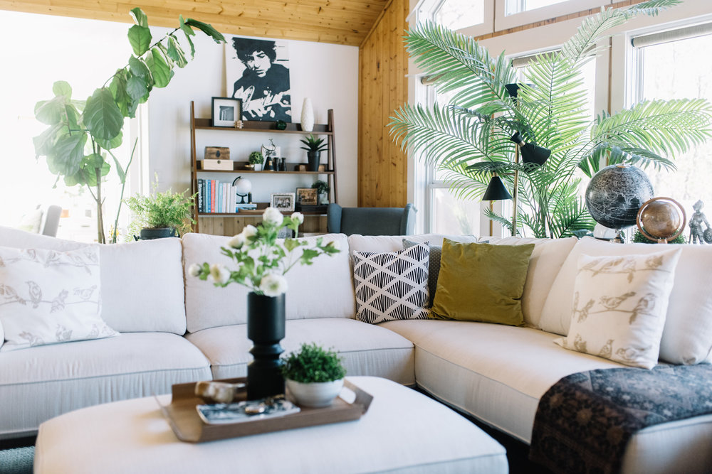 styling a white sectional