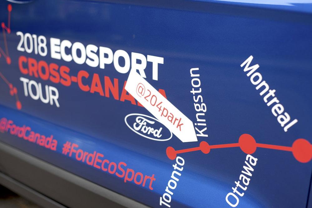 ford ecosport canada tour