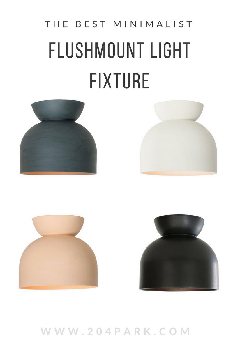 minimalist flushmount light fixture