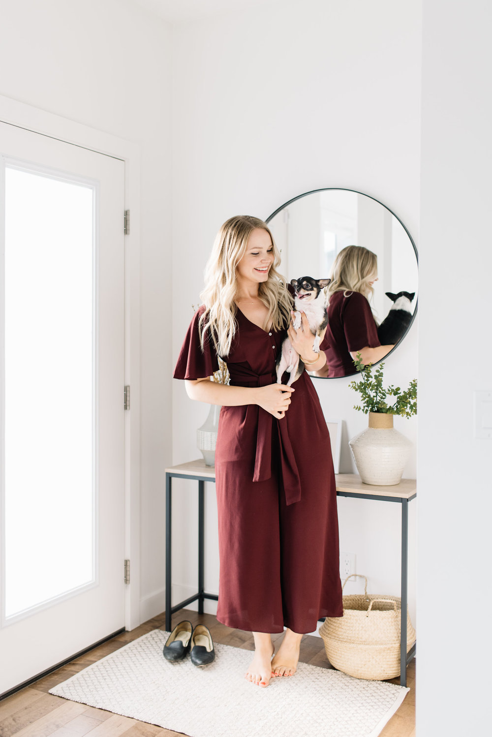 plum colored romper for fall
