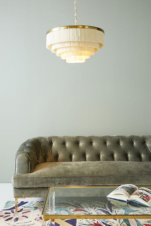 fringe light fixture, boho light fixture