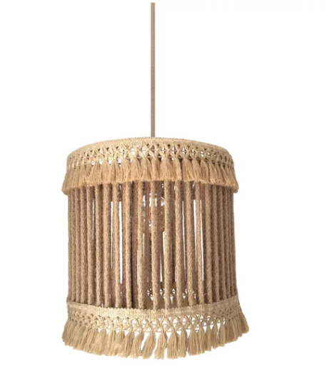 boho fringe pendant light